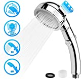 Handheld Showers, EYOBE Shower Head with Stop Button - 3 Spray Modes, Water Saving, High Pressure Shower Heads for Bathing and Spa