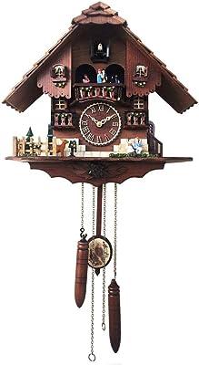 掛け時計,壁掛けアンティーク時計, ヴィンテージ 壁掛け時計, 木地 カッコウ時計手作りの木造家壁時計時計家の装飾
