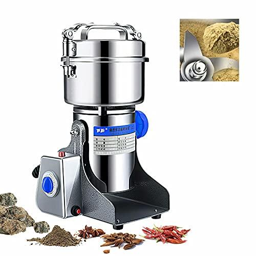 HANMIAO 800g Molino de Cereales de Acero Inoxidable, 220V Máquina de Molienda...