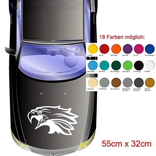 Adler Motorhauben Aufkleber, Auto Aufkleber, in 18 Farben erhältlich