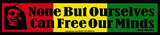 Peace Resource Project None But Ourselves Can Free Our Minds - Bob Marley - Small Bumper Sticker/Decal (8.875