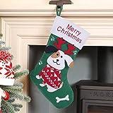 FengRise Chaussettes de Noël pour chiens – Chaussette de Noël à suspendre avec os pour décorations de Noël