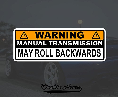 OwnTheAvenue Warning Manual Transmission Bumper Sticker Decal Stick Shift Car JDM Funny 6'