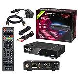 HB-DIGITAL Umstieg auf digitales Kabelfernsehen: HD-Kabelreceiver Mini Xoro HRK 7688 Kabel Receiver Aufnahmefunktion PVR HDMI Kabel (DVB-C Cabel LAN USB HDMI IR Empfänger 1080p Mediaplayer Full HD)