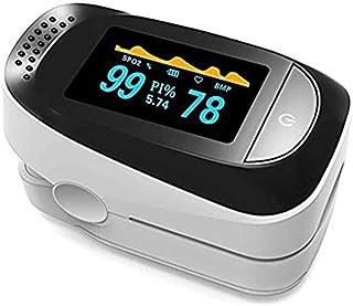 Oxímetro de Pinza de Dedo, Oxímetro de Pulso, Monitor Saturación de Oxígeno con Pulso De Dedo, Detector de frecuencia cardíaca con monitoreo de sueño Pi, Pulso Monitor de Oxigenación Sanguínea, Aparato De Frecuencia Cardíaca De Monitor De Sueño.(Blanco)