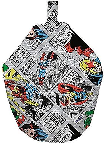 Fans les encantará este cómic strip-style superhéroes de Marvel–Puf. el salto acción sobre esta cómoda puf. El diseño exclusivo es brillante y atractivo, ideal para un dormitorio o sala de juegos. Colorido comic-strip estilo puf de Marvel Comics. S...