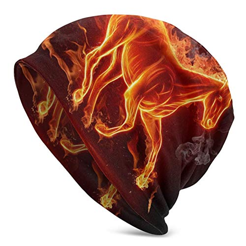 QUEMIN Baratos Fuego, Animal, Fuego, Humo, Caballo Psychedelic Magic Dragon Skull Cap...