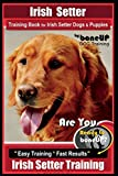 Irish Setter Training Book for Irish Setter Dogs & Puppies By BoneUP DOG Training: Are You Ready to Bone Up?  Easy Steps * Fast Results Irish Setter Training