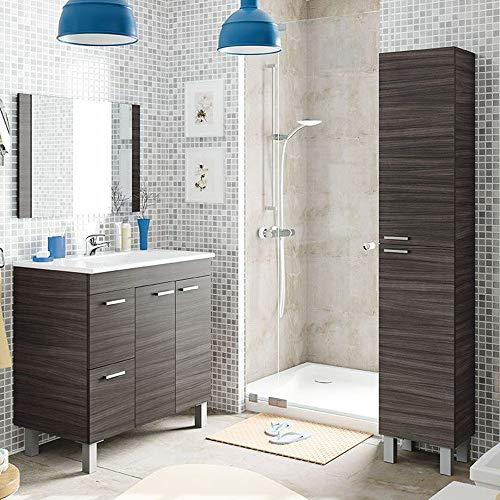 Mueble de Baño con Espejo + Lavabo de ABS , Griferia incluida,...