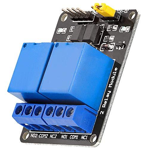 AZDelivery 2-Relais Modul 5V mit Optokoppler Low-Level-Trigger kompatibel mit Arduino inklusive E-Book!