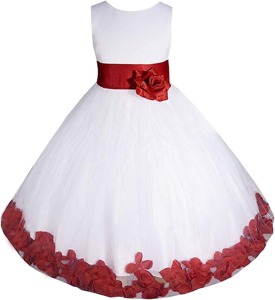 AMJ Dresses Inc Big Little Girls Girl Pageant Popular product Communion Choice Flower E