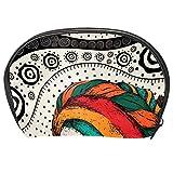 TIZORAX - Bolsa de maquillaje para mujer africana, diseño étnico tribal