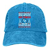 Fitness Hip Hop Hat,Moisture Wicking Travel Cap,Fast Dry Skull Cap,Merry Christmas from Ostrich Mom Ugly Denim Jeanet Baseball Cap Adjustable Dad Hat