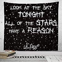 新しい壁のタペストリー黒と白の星寝室の装飾タペストリータペストリーアート抽象的な背景布-GT17-1_260 * 220