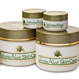 Infinite Aloe Skin Care Cream, Original Scent, 2 - 8oz Jars (Plus 2 Bonus 0.5 oz InfiniteAloe Travel Jars)