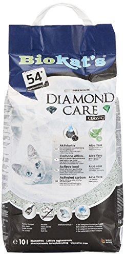 Biokat's Diamond Care Classic, para gatos, sin fragancia - Arena fina con carbón activo y aloe vera 1 saco (1 x 10 l) ✅