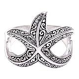 NOVICA .925 Sterling Silver Ring, Bali Starfish'
