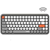 Wireless Bluetooth Keyboard Portable Mini 84-Key Typewriter Keyboard Compatible with Android, Ipad,Windows, PC, Tablet-Dark, Perfer for Home and Office Keyboards