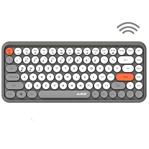 Wireless Bluetooth Keyboard Mini Portable 84-Key Typewriter Keyboard Compatible with Android, Ipad,Windows, PC, Tablet-Dark, Perfer for Home and Office Keyboards