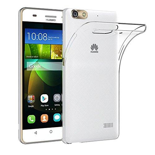 REY Funda Carcasa Gel Transparente para Huawei G Play Mini Ultra Fina 0,33mm, Silicona TPU de Alta Resistencia y Flexibilidad
