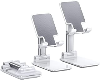Tablet Stand Multi-Angle, iPad Stand Holder, Desktop Adjustable Holder Dock for iPad, iPhone, Samsung, Other Tablet - White