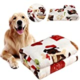KIWITATA kiwitatá Pet Dog Blanket Soft Warm Flannel Fleece Dog Sleep Mat Bed Cover Throw Blankets for Puppies Cat and Other Small Animals(L,41' x 30')