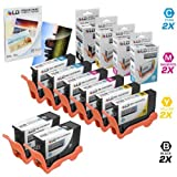 LD Compatible Ink Cartridge Replacement for Dell Series 33 & 34 Extra High Yield (2 Black, 2 Cyan, 2 Magenta, 2 Yellow, 8-Pack)