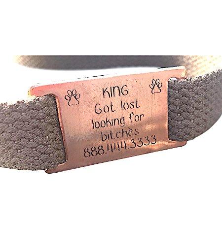 BlueSkyCreations Custom Text Pet ID Tag Silent Pet Id Personalized pet tag Copper Dog tag .Dog tag
