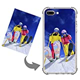 Personalized Case for iPhone 8 Plus/7 Plus Custom Photo Cellphone Case Cover Soft Rubber Silicone Shock Absorbing Protective Bumper Case (Anti-Scratch Clear, for iPhone 8 Plus/iPhone 7 Plus)