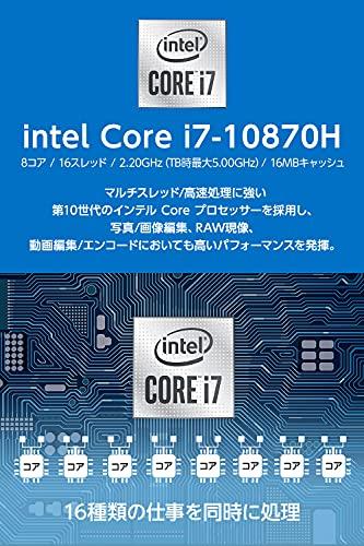 マウスコンピューターmouseクリエイター15.6型WQHDノートパソコンDAIV(Corei710870H/RTX3060/16GB/512GB/Win10)DA-N-IY71SIR6ZM