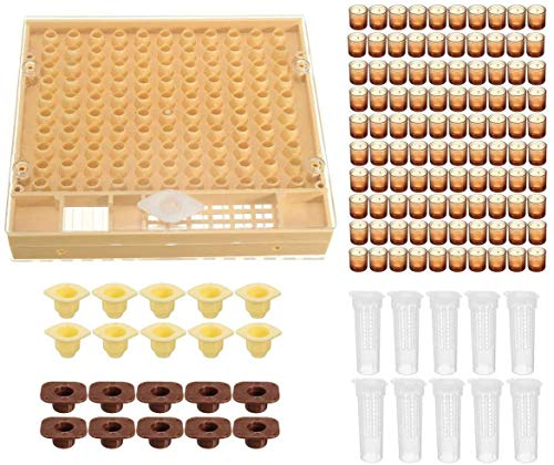 MEETOZ Beekeeping Complete Queen Rearing Cell Cup kit Catcher Box Hair Roll...
