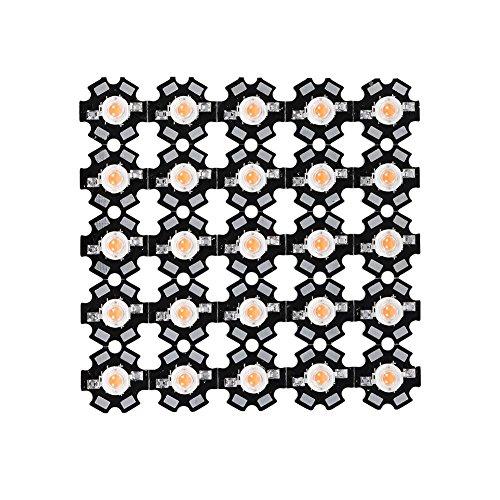 Delaman® 25Pcs 3W Full Spectrum 380nm-840nm Wavelength Led Plant Grow Light Chips
