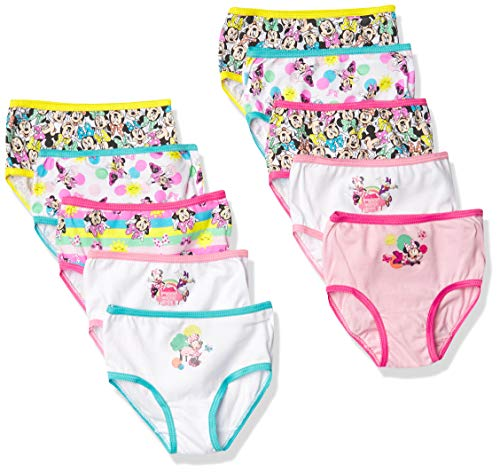 Disney Mouse Girls Panty Multipacks Ropa Interior, Minnie 10 Unidades, 4 años para Niñas