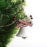XXXKK Decoración Navideña,Blanco Campanas De Navidad Bolas Adornos Brillo Bolas De Decoración De Árboles De Navidad Decoraciones Colgantes De Navidad Colgante Pequeño De Navidad para La Decor