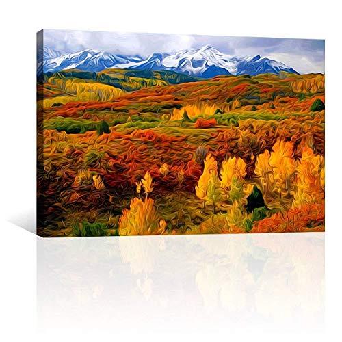 Digitale olieverfschilderij voor mountainbikes en trees, doe-het-zelven, frameless canvas geschenk, geschikt voor kinderen, vrienden, beginners, kunst, paintings 40 x 50 cm