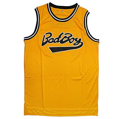 Yeee JPEglN Biggie Smalls Jersey BadBoy #72 Basketball Jersey S-XXXL (Yellow, S)