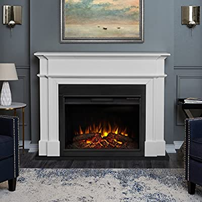 Real Flame 8060E-W Harlan Grand Electric Fireplace