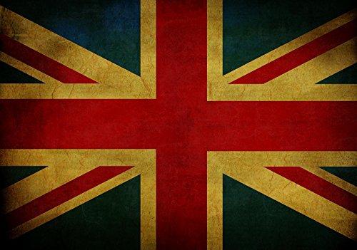 Welt-der-träume | papier peint intissé 130 g/m² | Drapeau de la Grande-Bretagne | | 10677 _ Ven-aw | UK Grande-Bretagne Union Jack Drapeau Queen Elizabeth, Blue,red,beige, V8