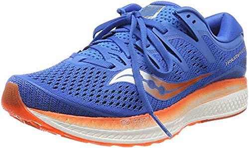 Saucony Triumph ISO 5 - Zapatillas de Running para Hombre, Azul (Blue/Orange) 42.5 EU