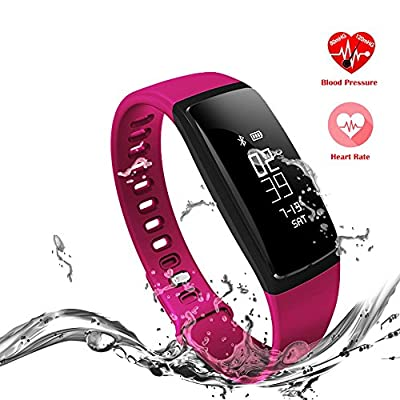 TONSUM Fitness Tracker, Heart Rate Monitor Sports Blood Pressure Smart Wrist for iPhone and Android Smart Phone Bluetooth 4.0
