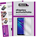 dipos I 2X Schutzfolie klar kompatibel mit Huawei Y6 (2019) Folie Bildschirmschutzfolie (bewusst Kleiner als das Glas, da Dieses gewölbt ist)