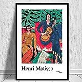 Henri Matisse Frau spielt Gitarre Vintage Bilder dekorative