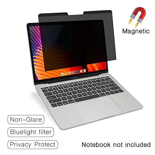 """SenseAGE Magnetic Privacy Screen Filter for MacBook Pro 13.3"""", Easy On/Off Anti-Blue Light Privacy Screen Protector, Compatible for MacBook Pro 13.3 inch (2016-2020)"""