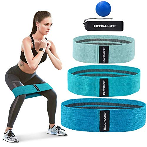 Covacure Resistance Bands for Legs and Butt  Resistance Bands Set Workout Bands Fitness Bands Exercise Bands Booty Loops Bands Stretch Resistance Band Anti Slip Elastic 3 Pack
