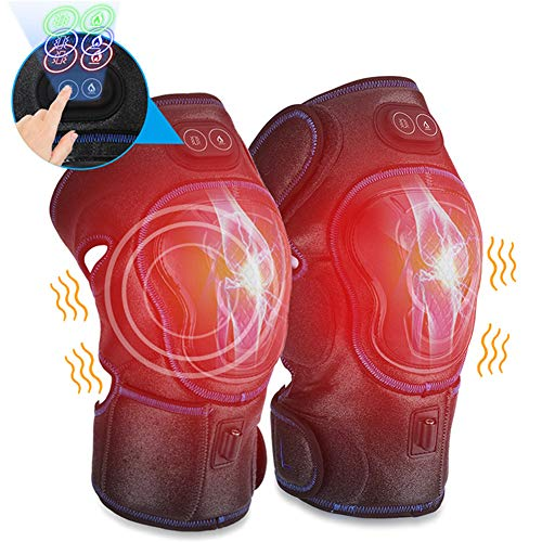 SAD Elektrisches Knie Massagegerät,3 Temperatur mit Wärmetherapie & Vibrationsmassage zur Schmerzlinderung bei Verletzungen, Mama,Papa