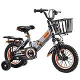 ZMDZA Bicicletas for niños, Bicicletas niños con Ruedas de Entrenamiento for el 12 14 16 18 Pulgadas de Bicicletas, Bicicletas de Bicicletas de montaña Plegable (Color : A, Size : 18 Inches)