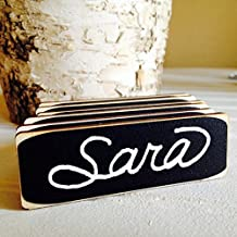 6 Rectangle Chalkboard Name Tags with Magnetic Backings, Corporate Meeting and Events Name Tags, Chalkboard Name Tags