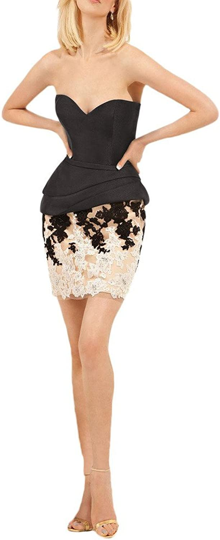 Avril Dress Sheath Appliques Sweetheart Satin Mini Homecoming Cocktail Dress