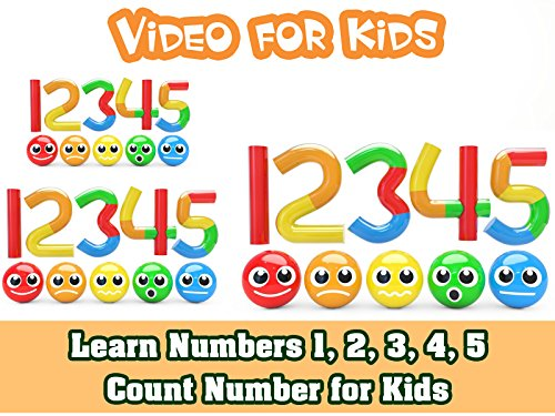 1, 2, 3, 4, 5 - Count number for Kids