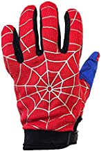 Typhoon Youth Kids Motocross Motorcycle ATV Dirt Bike Gloves - Blue Red Spiderman - Medium